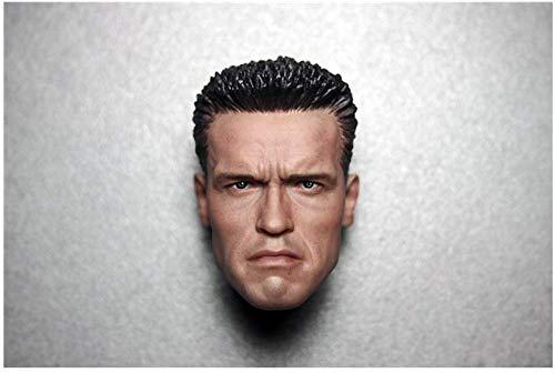 ZSMD 1/6 Arno Head Carver Terminator 2 cabezas talladas dragn tctico versin camuflaje adecuado para disfrazarse HT VERYCOOL TTL PHICEN TBLeague (D)