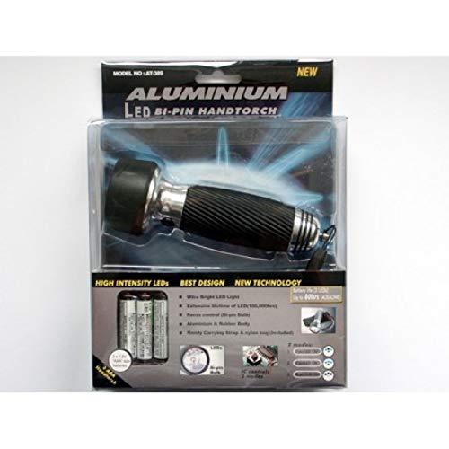 Powery Lampe Torche Del Aluminium avec 3 diodes EL, électroniquement programmables avec Une Lampe Torche bi-pin (y Compris Pochette Nylon pour 3X AAA) [ Torches/Lampes de Poche ]