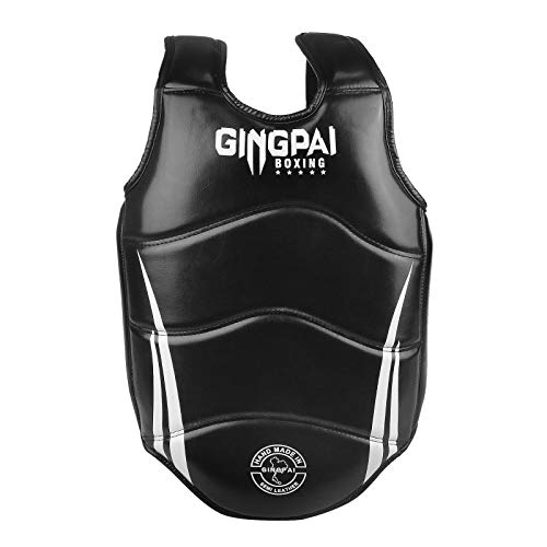 Boxing Chest Guard MMA Martial Arts Rib Shield Armour, Solid Body Protector for Kickboxing Taekwondo Muay Thai Training