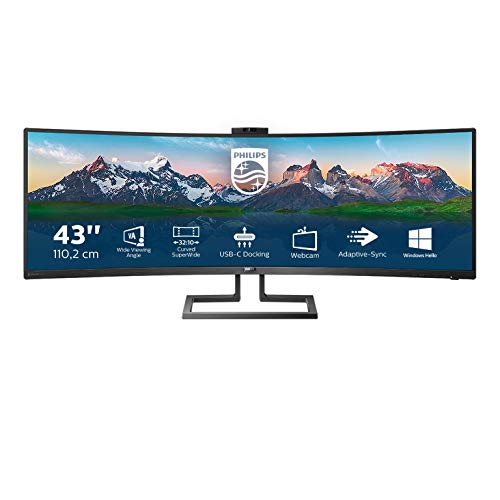 "Philips Monitor 439P9H/00, 43"" Curved 1800R, UltraWide, 100Hz, VA, Adaptive Sync (3840x1200, 450 CD/m, HDMI 1x2.0, Displayport 2x1.4)"