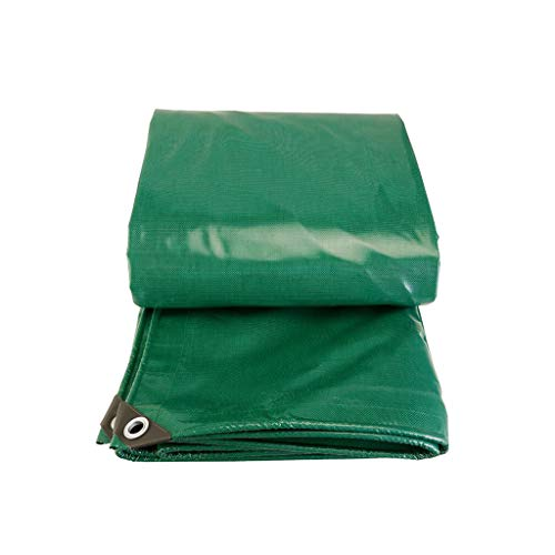 Tarpaulin Protective with Aluminium Eyelets Tarpaulin Groundsheet tarps Tarps for den Building Driveways Camping Water Slide Weeds Pool Hammock Car Boot Bikes Garden Wood 500 g/ ㎡ Green