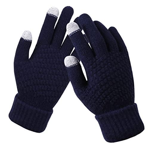 nvtuuer Guanti invernali con schermo tattile natalizio, guanti da dita, caldi, guanti a maglia, guanti sportivi in pile, ideali come regalo per uomo e donna, s, taglia unica