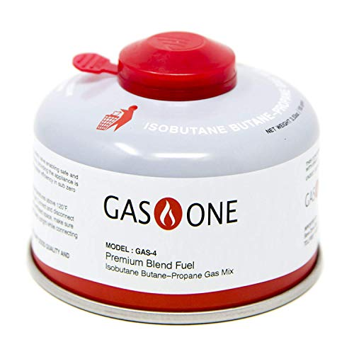GasOne Camping Fuel Blend Isobutane Fuel Canister 100g High Out