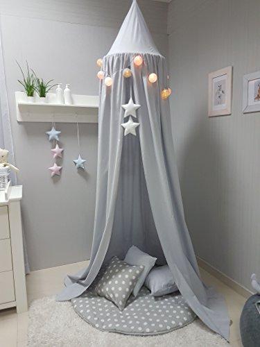 Babymajawelt® Spieldecke + 3 Kissen XXL, Krabbeldecke Spielteppich 120 cm weich gepolstert (grau)