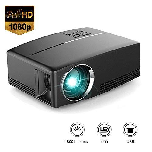 Hoeveelheid 88 Full HD 1080P en 120 inch Pris Display Projector Multimedia-Projector 1800 Lumen compatibel met HDMI VGA TF AV Input/Uitgang