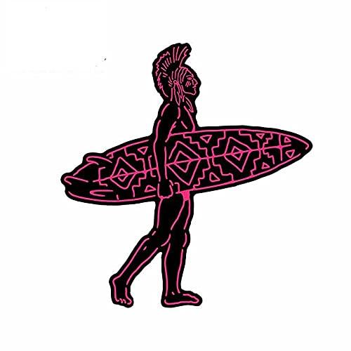 A/X 13cmx12.2cm para Indian Surfer Sparta Cartoon Car Stickers Windows Trunk Decal Anime