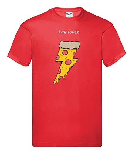 T-Shirt - Pizza Power Party Blitz - Tshirt für Herren und Männer