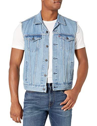 Levi's Herren Trucker Vest Jeansweste, Leichtes Steinwasser, XXX-Large