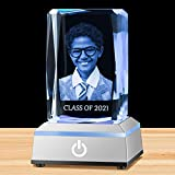 """Crystal Cube Dimensions: 2""""*2""""*3.1"""", with Free LED Light Base Customize Process: Upload Your Picture and Words, then We will do the Necessary Adjustments, Background will be Removed (Unless Specified) to Focus on Your Special Memory Turn Your Preciou..."""