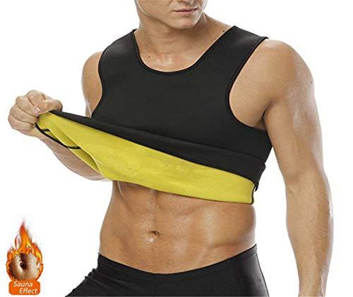 NOVECASA Sauna Camiseta Sudoración Hombre Neopreno Body Shaper Transpirar para Quema Grasa Faja Abdome Adelgaza Gimnasio Fitness (S, Chaleco)
