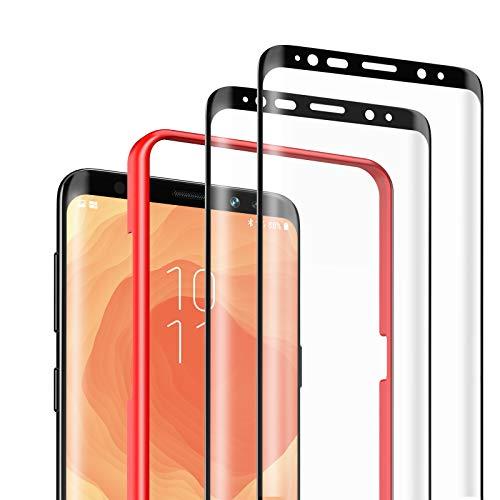 DEKOLY Verre Trempé pour Samsung Galaxy S9 [Lot de 2], 3D Couverture Complète Film Protection en Écran Protecteur Vitre, Anti Rayures, sans Bulles - Noir