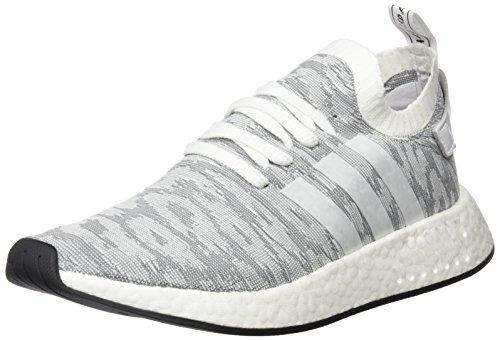 adidas Herren NMD_R2 Primeknit Sneaker, Weiß (Footwear White/Footwear White/core Black), 41 1/3 EU