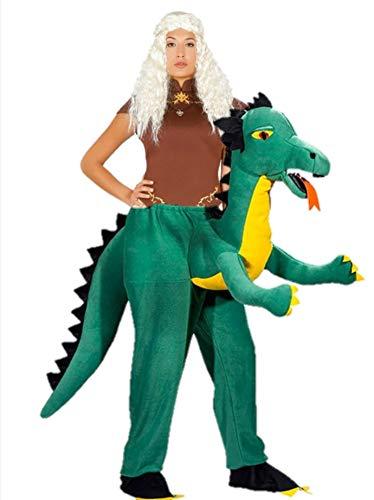 Disfraz de Reina Dragones a hombros de Dragon