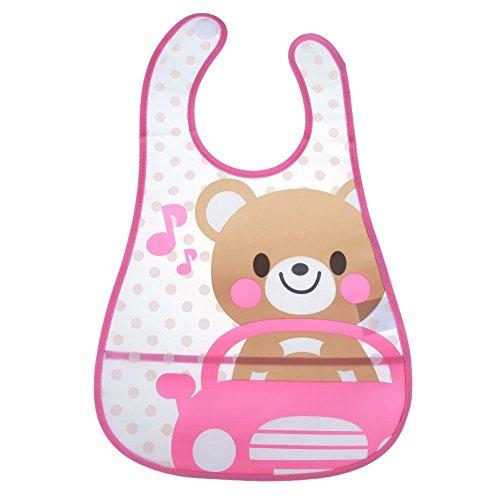 everpert Cartoon Baby Kinder Lätzchen Wasserdicht Speichel Handtuch Fütterung Bandana Schürze (Bär)