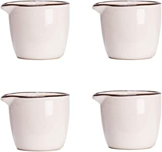 CHOOLD Colorful Mini Ceramic Creamer,Coffee Milk Creamer Pitcher/Serving Pitcher/Sauce Pitcher/Milk Creamer Jug for Kitchen 4Pcs
