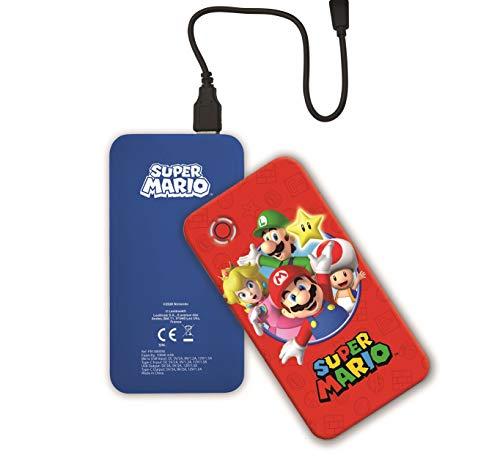 Nintendo Super Mario Luigi Power Bank de carga rápida Batería externa portátil 10000 mAh, Acumulador externo power delivery, compatibilidad universal, teléfonos inteligentes, tabletas, consolas, cabl