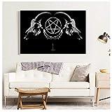 DrCor Dark Horror Gothic Okkult Satan Penta Symbol Poster