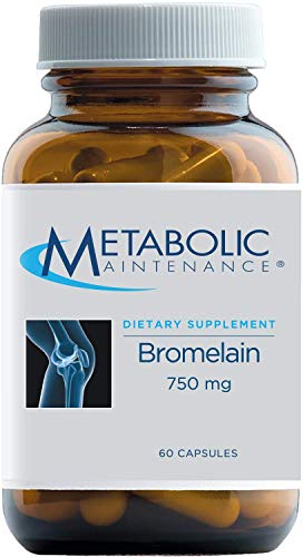 Metabolic Maintenance Bromelain - 750mg Vegan Digestive Enzymes from Pineapple - Healthy Digestion + Muscle Recovery Support Supplement, No Fillers (60 Capsules)