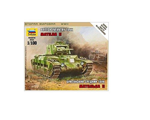 Zvezda–Z6171–Modellbau–Sturmpanzer–Britischer Panzer Matilda WK1
