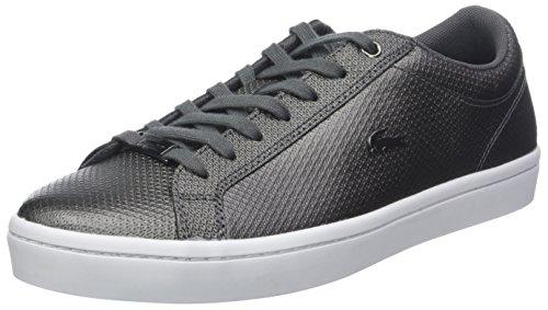 Lacoste Damen Straightset 318 2 Caw Sneaker, Schwarz (Blk/Wht 312), 38 EU