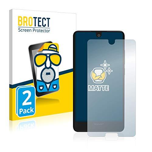 BROTECT 2X Entspiegelungs-Schutzfolie kompatibel mit Sharp Aquos C10 Bildschirmschutz-Folie Matt, Anti-Reflex, Anti-Fingerprint