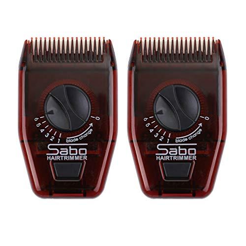 Beaupretty 2Pcs Rasoio per Capelli Manuale Mini Pettine Regolabile Regolabile Pettine Rasoio da Barba per Uomo Donna (Rosso Scuro)