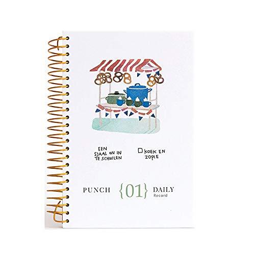 Kreskówka gotowanie jedzenie gruby vintage notatnik notatnik okładka osobisty pamiętnik książka 2019 2020 szkolne artykuły papiernicze dla studenta prezent