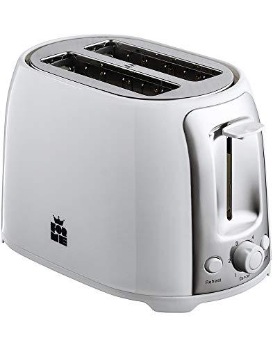 ForMe Tostadora 2 Ranuras 750W I Ruedecilla de ajuste de temperatura I Función descongelación y Recalentar I Detención automática I Color blanco