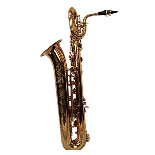Saxophone Straight High Grade Professional Gold Plated Tone EB Baritone Saxophone
