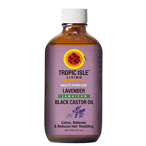 Tropic Isle Living Lavender Jamaican Black Castor Oil 8 oz - Glass Bottle
