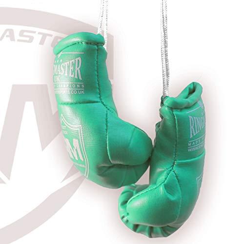 RingMasterUK – Mini guantes de boxeo para colgar en el retrovisor del coche o de la furgoneta, verde
