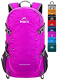 Venture Pal 40L Lightweight Packable Travel Hiking Backpack Daypack, B1 Purple, One Size