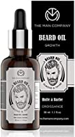 The Man Company Beard Growth Oil With Almond & Thyme | Promotes Growth, Nourishment | Paraben Free & SLS Free | 30 ML