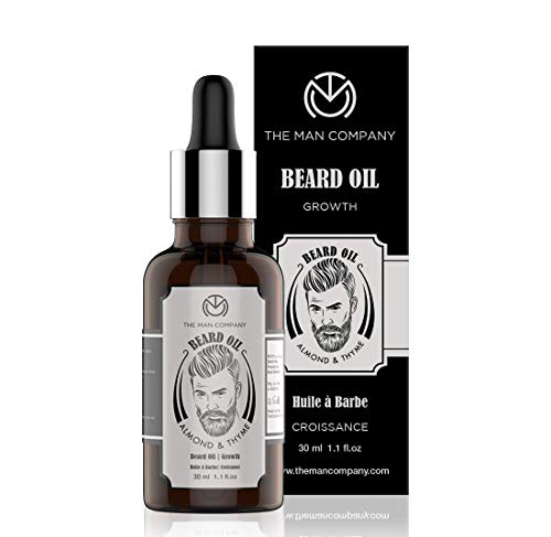 The Man Company Beard Growth Oil with Almond & Thyme for Beard Growth -30ml
