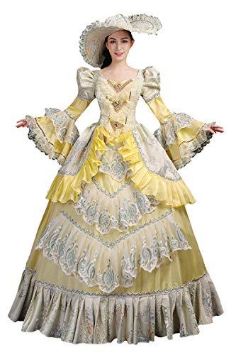High-End Court Rokoko Barock Marie Antoinette Ballkleider 18. Jahrhundert Renaissance Historische Periode Kleid Gewand für Damen - - 3X-Groß