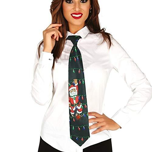 Guirca Cravatta Sonora Natalizia, con Luce. Babbo Natale