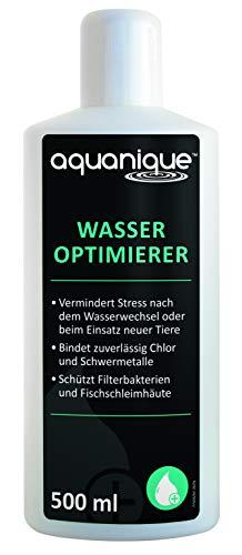 AQUANIQUE Wasseroptimierer 500 ml, Wasseraufbereiter Aquarium, Perfekt bei Wasserwechsel in Aquarien, bereitet Wasser artgerecht auf, Aquarienpflege