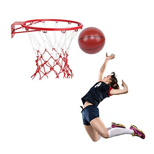 Canasta Tableros de Baloncesto Aro de Baloncesto para Niños Montado en la Pared, Juego de Tiro Profesional para Adultos Aro de Baloncesto y Net Sit con Baloncesto, Dormitorio Interior al Aire Libre