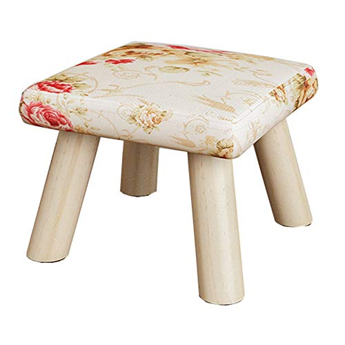 Small Stool Solid Wood Home Kitchen Bedroom Living Room Leisure And Entertainment Convenient Non-slip Small Bench (Color : G)