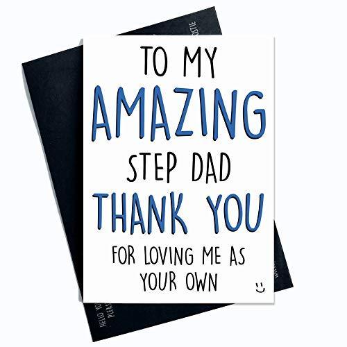 Stap Dad Card Vaderdag Kaart Voor Stap Vader Verjaardagskaart Kerstkaart Dank U Stap Dad Kerstkaarten Waardering Kaart Familie PC304