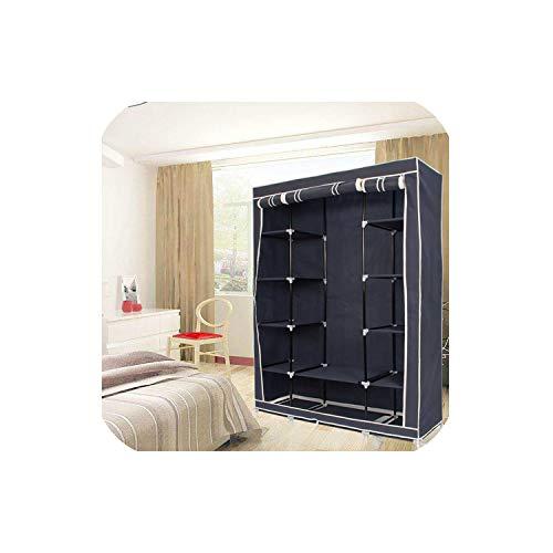 QianQianStore Modern Non Woven Cloth Wardrobe Storage Cabinet DIY Fold Portable Storage Cabinet Multifunction Dustproof Closet,Purple
