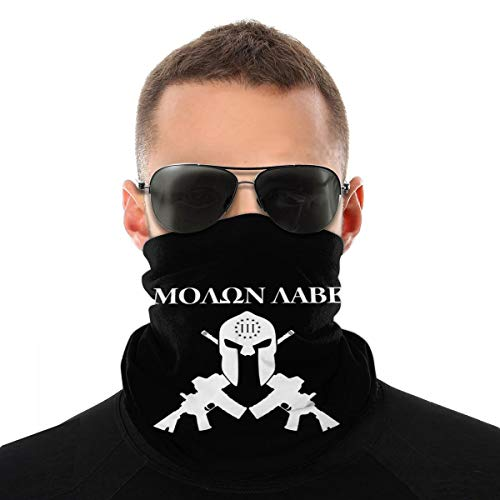 Molon Labe Crossed Gun Unisex Gesichtsschalbezug Outdoor Sport Running Neck Sturmhaube