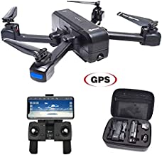 Contixo F22 Plus Foldable GPS 1080P Camera Photography Drone   Selfie, Gesture, Follow Me, Gimbal RC WiFi FPV Quadcopter Beginners Drone with Camera for Adults 40 Minutes Flying Time Two Batteries