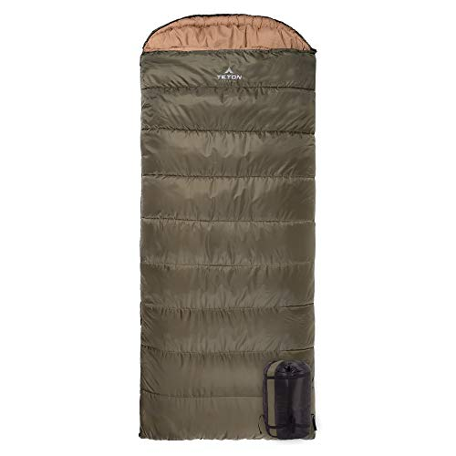 TETON Sports Celsius XL -18C Sleeping Bag; Great for Family Camping; Free Compression Sack (115R)