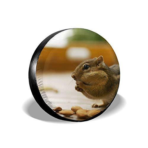 Beth-D bandenafdekking dieren grappig lief eekhoorntje universele reservebandafdekking bandbescherming 14-17 inch
