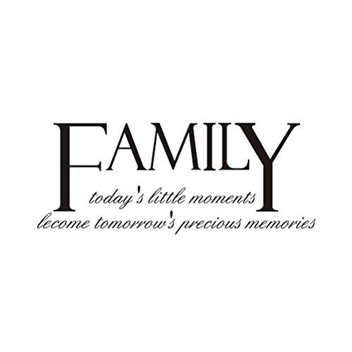 Vosarea Etiqueta de la Pared de la Familia DIY Arte de la Pared murales calcomanías Wallpaper decoración para Sala de Estar Dormitorio baño 30x70 cm