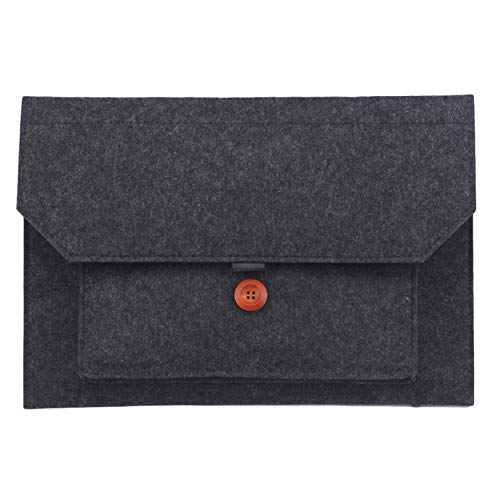 ZXDDD 15.6 Inch Laptop Sleeve Bag Laptop Tablet Handbag Fit for 11-15 Inch Laptop Felt Soft Retro Portable Laptop Sleeve for College Office,Dark Grey Style 2