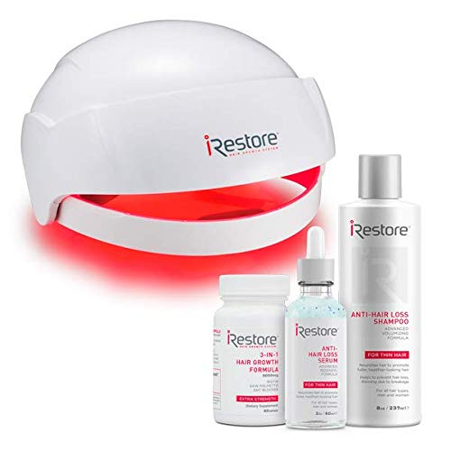 iRestore Laser Hair Growth System - MAX Growth Kit: Includes Anti-Hair Loss Shampoo, Serum, and Supplements - FDA Cleared Hair Loss Treatments - Hair Regrowth for Men and Women with Thinning Hair