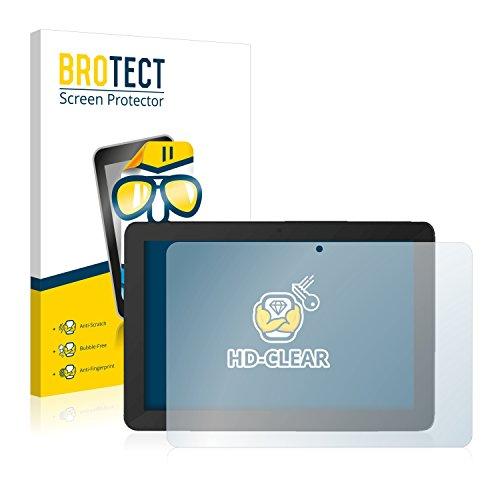 BROTECT Schutzfolie kompatibel mit TrekStor SurfTab Breeze 10.1 Quad Plus (2 Stück) klare Bildschirmschutz-Folie