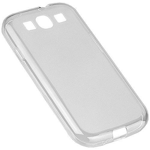 itronik® 0,35mm Ultra Slim flacher Bumper - die dünnste flexible Schutzhülle für Samsung Galaxy S3 i9300 - Bumpers Hülle Hülle Schale Schutz Tasche - weiss transparent durchsichtig